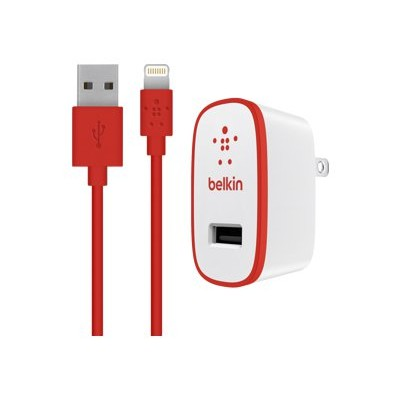 BelkinHome Charger with Lightning Cable for iPad (10 Watt/2.1 Amp) - Red(F8J052TT04-RED)