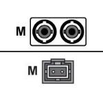 AX - Network cable - MT-RJ multi-mode (M) to ST multi-mode (M) - 66 ft - fiber optic - 62.5 / 125 micron - OM1 - riser - orange