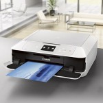 PIXMA MG7520 Wireless All-In-One Color Cloud Printer, Mobile Smart Phone, Tablet Printing, and AirPrint Compatible - White
