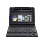 QODE Portable - Keyboard and folio case - Bluetooth - black - for Amazon Kindle Fire
