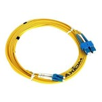 Network cable - SC single-mode (M) to LC single-mode (M) - 39 ft - fiber optic - 9 / 125 micron - OS2 - riser - yellow