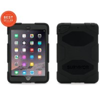 Griffin Survivor All-Terrain for iPad mini 1/2/3 - Black/Black (Touch ID Compatible) GB35918-3