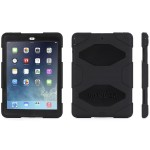 Griffin Survivor All-Terrain - Protective case for tablet - silicone, polycarbonate - black/black - for Apple iPad Air GB36307-2