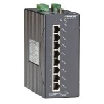 LEH1200 Series Class 1, Div 2 Hardened Managed Switch - 8-Port 10/100-Mbps, 2-Port Gigabit Copper/Multimode Fiber, SC