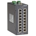 LEH1200 Series Class 1, Div. 2 Hardened Managed Switch - 16-Port 10/100-Mbps, 2-Port Gigabit Copper/Multimode Fiber, SC