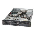 "Supermicro SuperServer 6028R-T - Server - rack-mountable - 2U - 2-way - RAM 0 MB - SATA - hot-swap 3.5"" - no HDD - AST2400 - GigE - monitor: none"