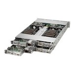 "Supermicro SuperServer 6028TR-HTR - 4 nodes - cluster - rack-mountable - 2U - 2-way - RAM 0 MB 3.5"" - no HDD - AST2400 - GigE - no OS - monitor: none"