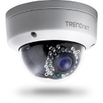 TRENDnet TV IP321PI - Network surveillance camera - pan / tilt - outdoor - vandal / weatherproof - color ( Day&Night ) - 1.3 MP - 1280 x 960 - 10/100 - H.264 - DC 12 V / PoE TV-IP321PI