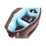 B-Colors - Shoulder bag for digital photo camera with lenses - 1680D nylon - blue, brown