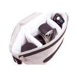 B-Colors - Shoulder bag for digital photo camera with lenses - 1680D nylon - gray, pearl