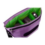B-Colors - Shoulder bag for digital photo camera with lenses - 1680D nylon - purple, green