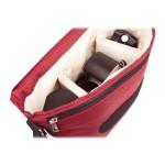B-Colors - Shoulder bag for digital photo camera with lenses - 1680D nylon - red, beige