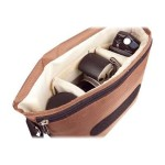 B-Colors - Shoulder bag for digital photo camera with lenses - 1680D nylon - beige, chocolate