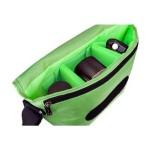 B-Colors - Shoulder bag for digital photo camera with lenses - 1680D nylon - double green