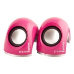 Urban Factory Crazy - Speakers - for portable use - 6 Watt (total) - pink MSP06UF