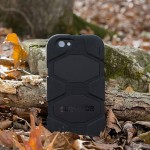 Survivor All-Terrain - Protective case for cell phone - silicone, polycarbonate - black - for Apple iPhone 6s & 6