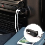 PowerJolt Dual - Power adapter - car - 12 Watt - 2.4 A - 2 output connectors (USB (power only)) - for Apple iPad/iPhone/iPod (Lightning)
