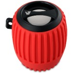 Bluetooth Water Resistant Rechargeable 3W Speaker - Red