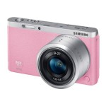 SMART Camera NX mini - Digital camera - High Definition - mirrorless system - 20.5 MP NX-M 9mm and 9-27mm lenses - Wi-Fi, NFC - pink - with  SEF7A Flash