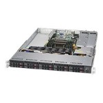 "Supermicro SuperServer 1018R-WC0R - Server - rack-mountable - 1U - 2-way - RAM 0 MB - SATA/SAS - hot-swap 2.5"" - no HDD - AST2400 - GigE - monitor: none"