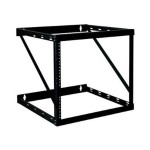 12U 2-Post Wall Mount Open Frame Rack Cabinet Wallmount Heavy Duty 200lb Cap