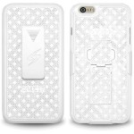 Amzer Shellster with Kickstand - White for iPhone 6 Plus AMZ97338