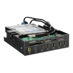 """Mighty Charger series ECR501 - Card reader - 6 in 1 - 5.25"""" (Multi-Format) - USB 2.0/USB 3.0/SATA 3 Gb/s"""