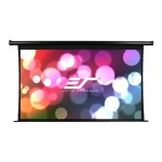 Elite Screens Spectrum Tab-Tension Series Electric125HT - Projection screen - 125 in ( 125.2 in ) - 16:9 - MaxWhite - black ELECTRIC125HT