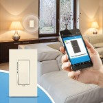 Insteon SwitchLinc INSTEON Remote Control Dual-Band Dimmer, Light Almond 2477DLAL