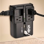TrippLite 4 Rotatable Outlets, Direct Plug-In, 1080 Joules, 3.4 Amp USB Charger - Protect It! Surge Suppressor SK40RUSBB