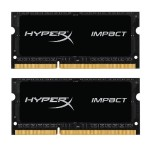 Kingston 16GB 2133MHz DDR3L CL11 SODIMM (Kit of 2) 1.35V HyperX Impact Black HX321LS11IB2K2/16