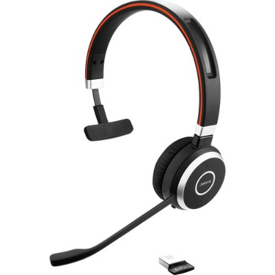 Jabra Corporation Evolve 65 UC mono - headset - with LINK 360 Adapter (6593-829-409)