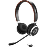 Evolve 65 UC stereo - Headset - on-ear - Bluetooth - wireless - with LINK 360 Adapter