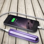 Pebble Smartstick+ 2800mAh Portable Battery for iPhone & Smartphones - Purple