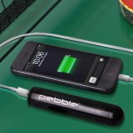 Pebble Smartstick+ 2800mAh Portable Battery for iPhone & Smartphones - Black