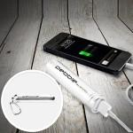 Pebble Smartstick+ 2800mAh Portable Battery for iPhone & Smartphones - Silver
