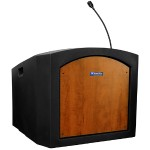 AmpliVox Sound Systems Pinnacle Tabletop Lectern - Non Amplified,Medium Oak ST3240-MO