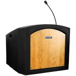 AmpliVox Sound Systems Pinnacle Tabletop Lectern - Non Amplified, Maple ST3240-MP