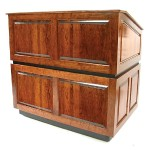 AmpliVox Sound Systems Ambassador Multimedia Lectern - Non Sound, Walnut SN3035-WT