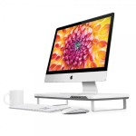 F3 Smart Monitor Stand with Four USB 3.0 Ports and Headphone / Microphone Extension Ports (White)