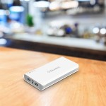 Aluratek Portable Battery Charger - Power bank Li-Ion 12000 mAh - 2 output connectors ( USB (power only) ) APB14F
