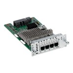 Cisco Fourth-Generation Network Interface Module - Voice / fax module - analog ports: 4 - for  4451-X NIM-4FXS=