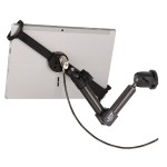 "LockDown Universal Wall/Cabinet/Countertop Carbon Fiber Mount w/ Combination Lock for any iPad or 7"" - 11"" Tablet"