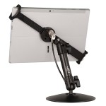 "The Joy Factory LockDown Universal Desk/Countertop Carbon Fiber Stand w/ Combination Lock for 7"" - 11"" Tablets MNU111CL"