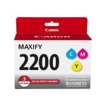 PGI-2200 CMY 3 Ink Value Pack - 3-pack - yellow, cyan, magenta - original - ink tank - for MAXIFY iB4020, iB4120, MB5020, MB5120, MB5320, MB5420