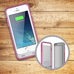 Extended 2400 mAh Battery Case for iPhone 6 - MFI Certified - Pink