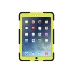Griffin Survivor All-Terrain - Back cover for tablet - silicone, polycarbonate - black/citron - for Apple iPad Air GB36404-2