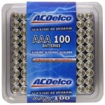 100 Pack of AAA Alkaline Batteries from AC Delco