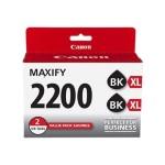 PGI-2200XL Black Twin Pack - 2-pack - High Yield - black - original - ink tank - for MAXIFY iB4020, iB4120, MB5020, MB5120, MB5320, MB5420