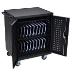 42 Computer Tablet Charging Cart - Black
